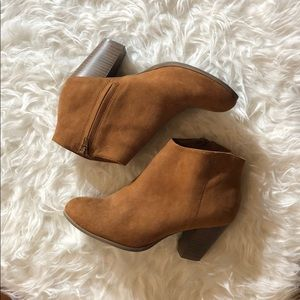 Old Navy Brown Faux Suede Booties